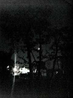 上弦の月…